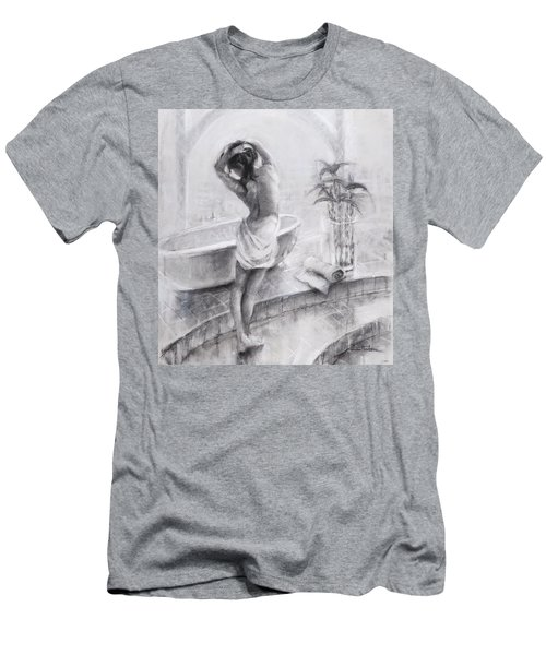 Men's T-Shirt (Athletic Fit) featuring the painting Bathed In Light by Steve Henderson