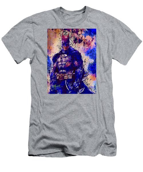 Men's T-Shirt (Athletic Fit) featuring the mixed media Batman by Al Matra