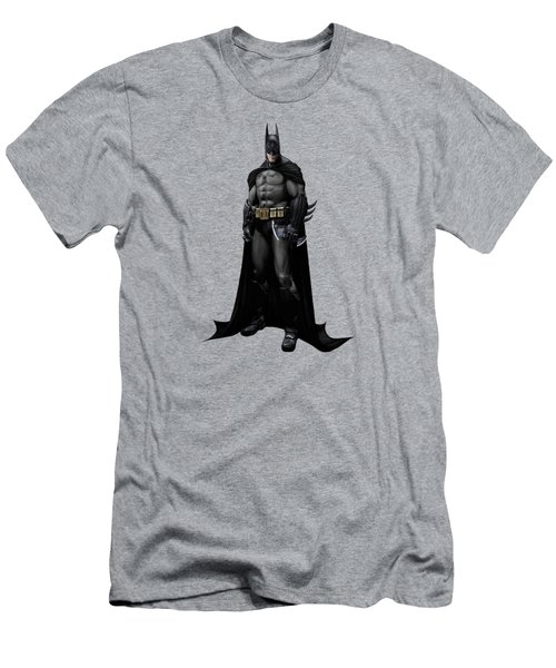 Men's T-Shirt (Slim Fit) featuring the mixed media Batman Splash Super Hero Series by Movie Poster Prints