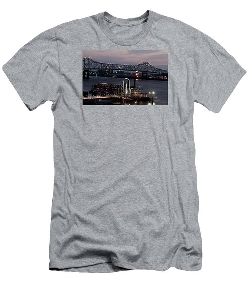 Baton Rouge Bridge Men's T-Shirt (Slim Fit) by Helen Haw