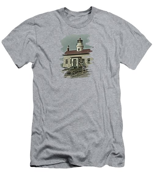 Battery Point Lighthouse Men's T-Shirt (Athletic Fit)