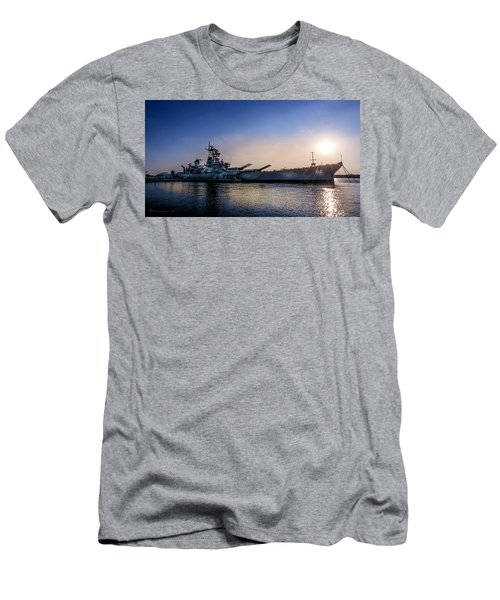 Men's T-Shirt (Slim Fit) featuring the photograph Battleship New Jersey by Marvin Spates