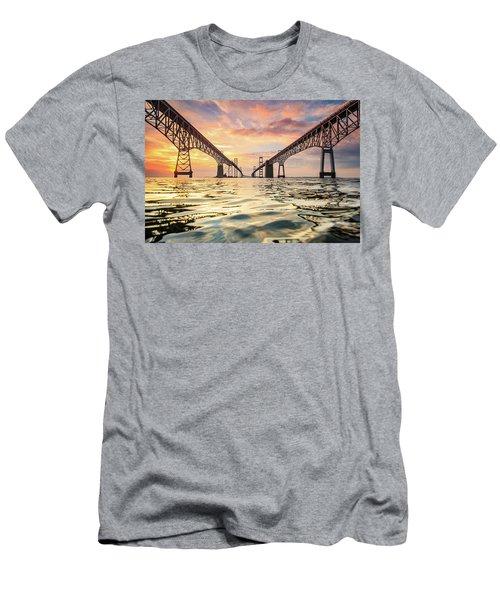 Bay Bridge Impression Men's T-Shirt (Slim Fit) by Jennifer Casey