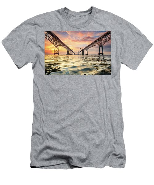 Bay Bridge Impression Men's T-Shirt (Athletic Fit)