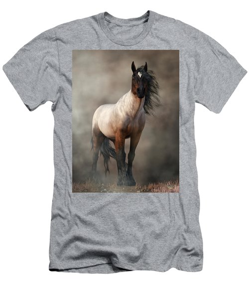 Bay Roan Horse Art Men's T-Shirt (Athletic Fit)