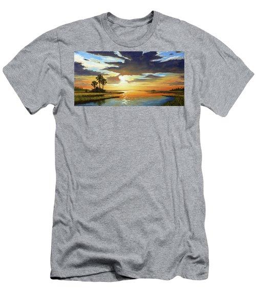 Bay Sunset Men's T-Shirt (Slim Fit) by Rick McKinney