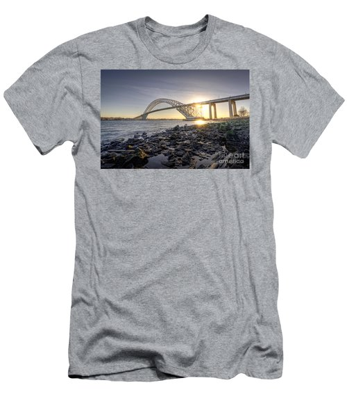 Bayonne Bridge Sunset Men's T-Shirt (Athletic Fit)