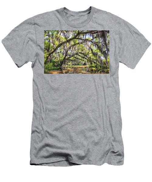 Bayou Cathedral Men's T-Shirt (Slim Fit) by Andy Crawford