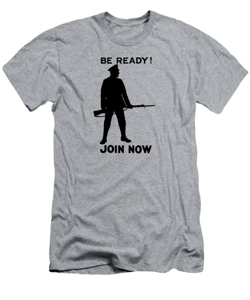 Be Ready - Join Now Men's T-Shirt (Athletic Fit)