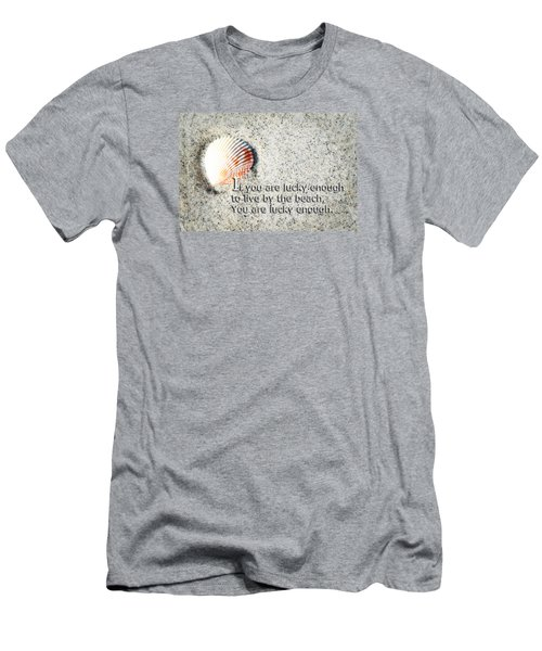 Beach Art - Lucky Enough - Sharon Cummings Men's T-Shirt (Athletic Fit)