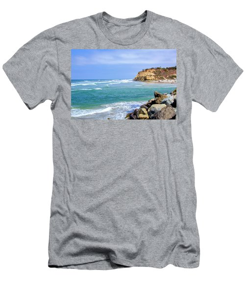 Beach At Del Mar, California Men's T-Shirt (Athletic Fit)