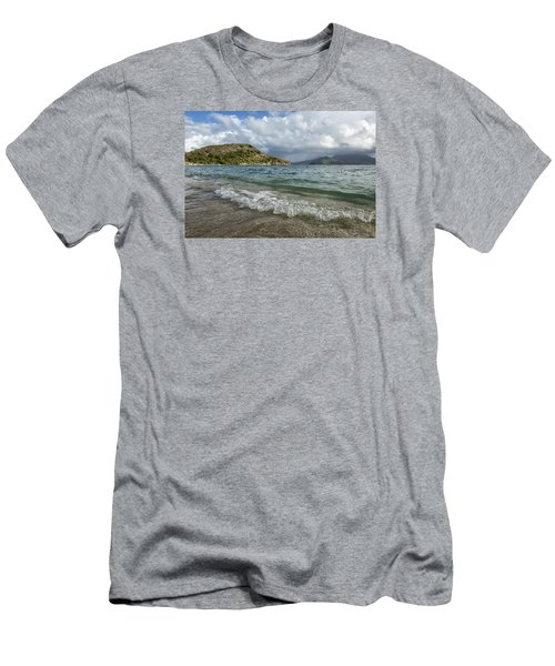 Beach At St. Kitts Men's T-Shirt (Athletic Fit)