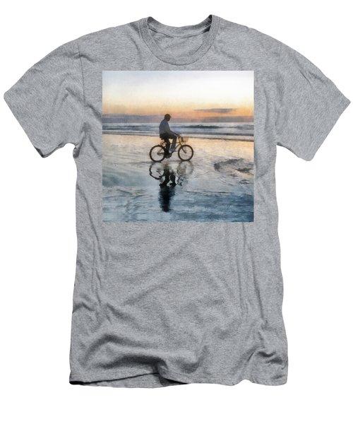 Beach Biker Men's T-Shirt (Slim Fit) by Francesa Miller