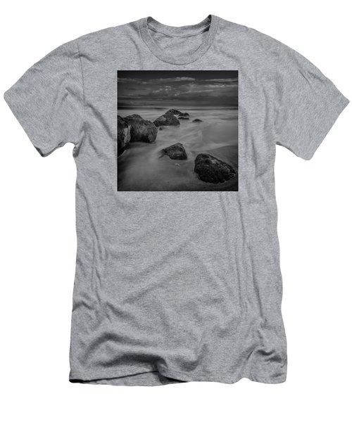 Beach Boulders Men's T-Shirt (Athletic Fit)