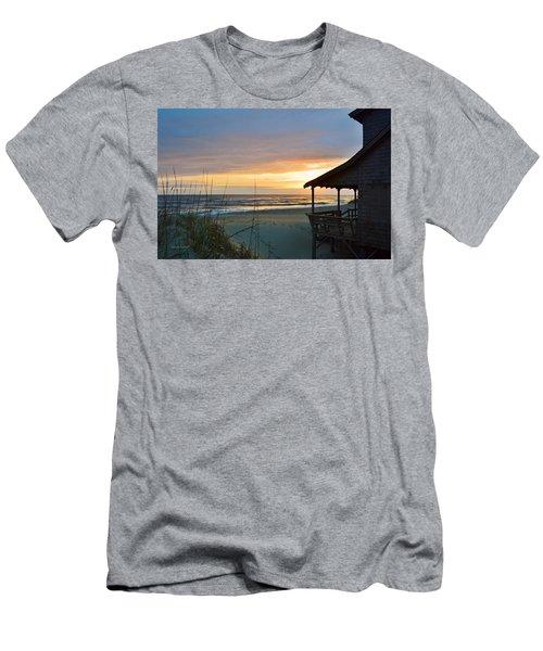 Beach Cottage Sunrise  Men's T-Shirt (Athletic Fit)