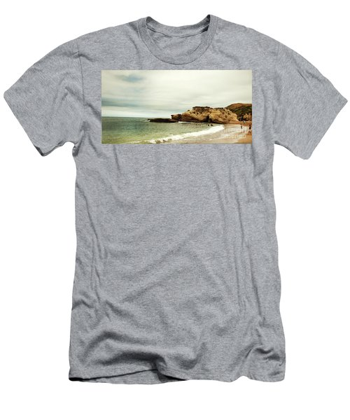 Beach Day At Montana De Oro Inspooner's Cove San Luis Obispo County California Men's T-Shirt (Athletic Fit)