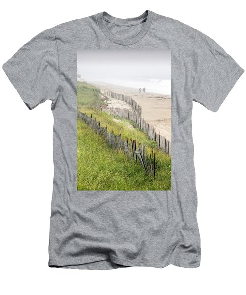 Beach Fences In A Storm Men's T-Shirt (Slim Fit) by Betty Denise