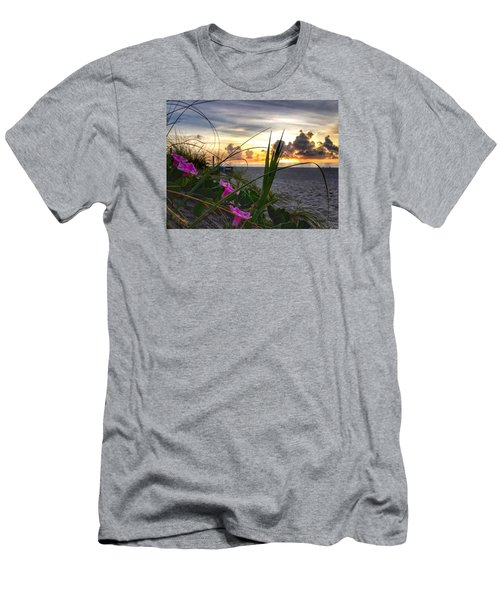 Beach Flowers Men's T-Shirt (Slim Fit)