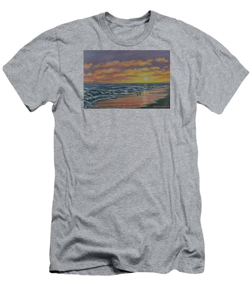 Men's T-Shirt (Slim Fit) featuring the painting Beach Glow by Kathleen McDermott