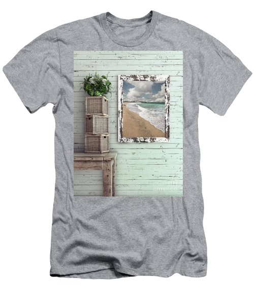 Men's T-Shirt (Athletic Fit) featuring the photograph Beach House By Kaye Menner by Kaye Menner