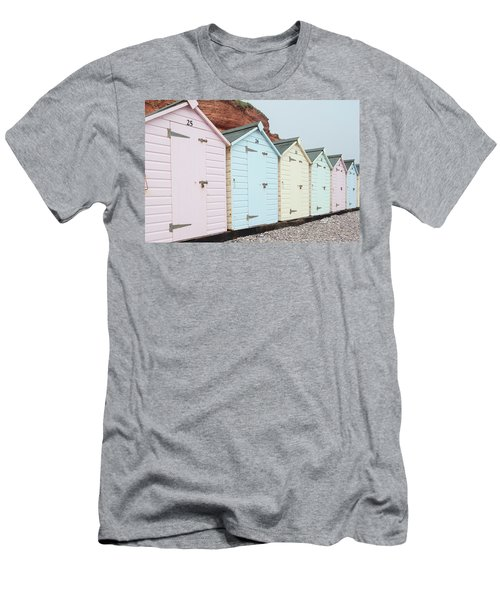 Beach Huts Vi Men's T-Shirt (Athletic Fit)
