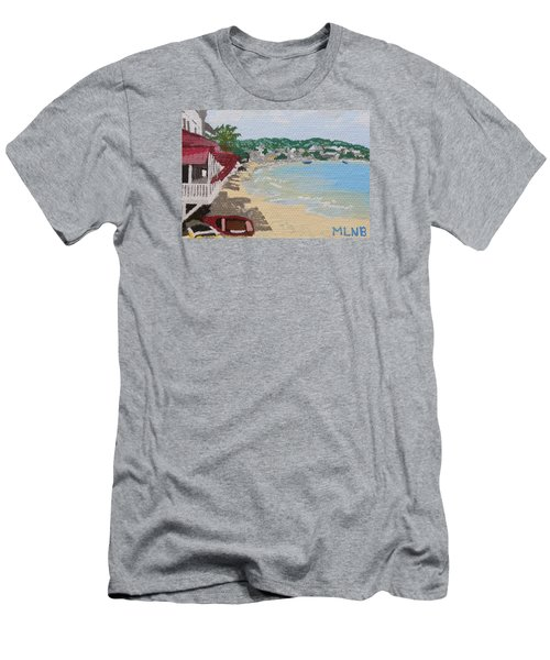 Beach In Grand Case Men's T-Shirt (Slim Fit) by Margaret Brooks