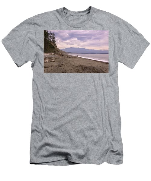 Beach On Dungeness Spit Men's T-Shirt (Athletic Fit)