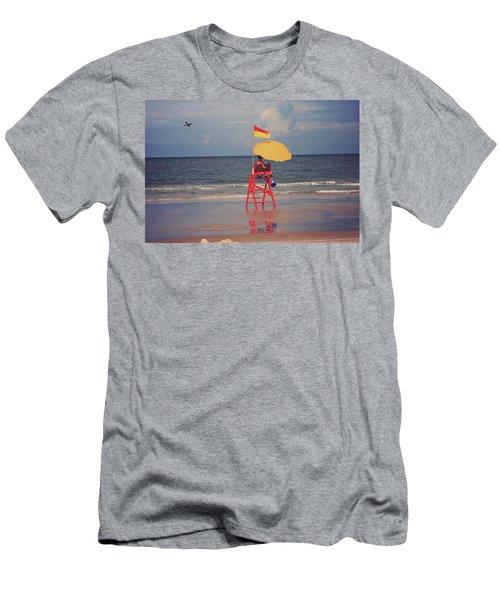 Beach Sentinel Florida Men's T-Shirt (Athletic Fit)