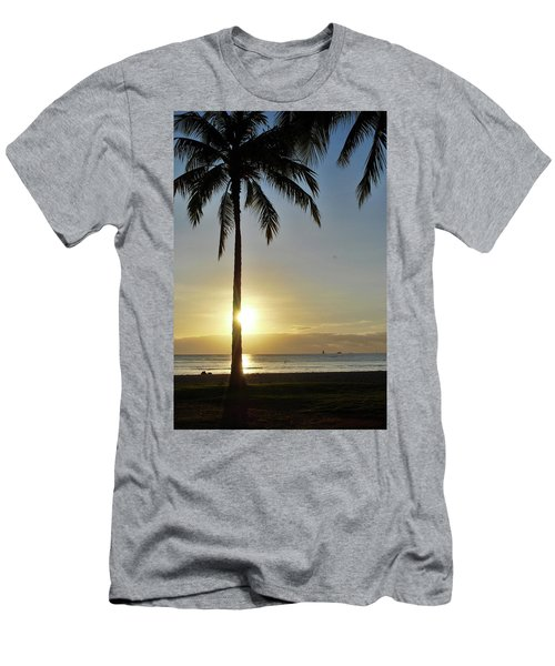 Men's T-Shirt (Athletic Fit) featuring the photograph Beach Sunset by Amee Cave