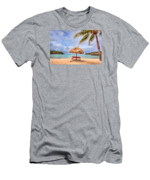 Beach Time Men's T-Shirt (Slim Fit) by Nadia Sanowar