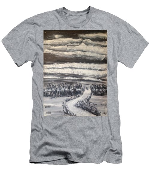 Men's T-Shirt (Slim Fit) featuring the painting Beach Walk by Diane Pape