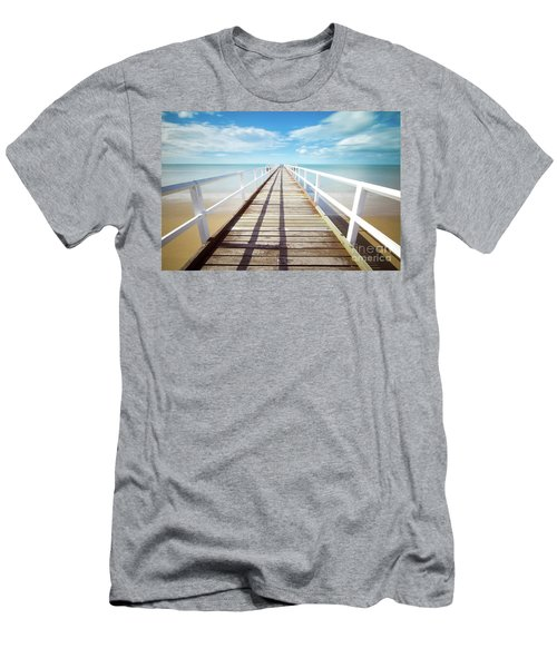 Men's T-Shirt (Slim Fit) featuring the photograph Beach Walk by MGL Meiklejohn Graphics Licensing