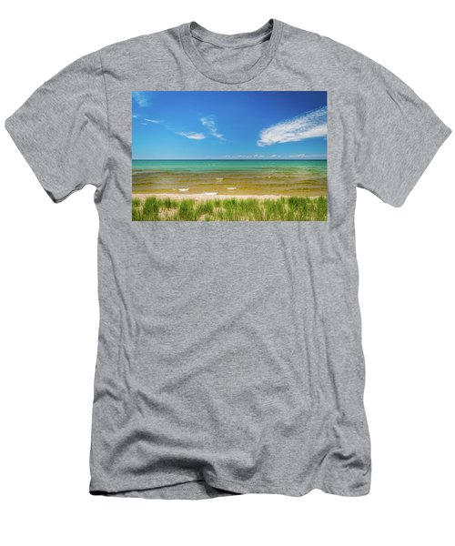 Beach With Blue Skies And Cloud Men's T-Shirt (Athletic Fit)