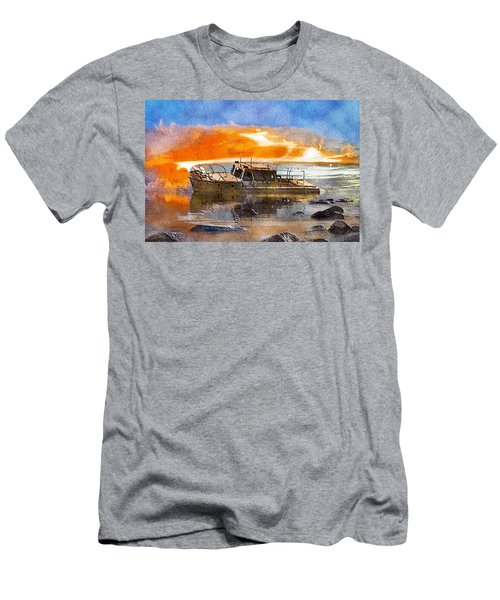 Beached Wreck Men's T-Shirt (Athletic Fit)
