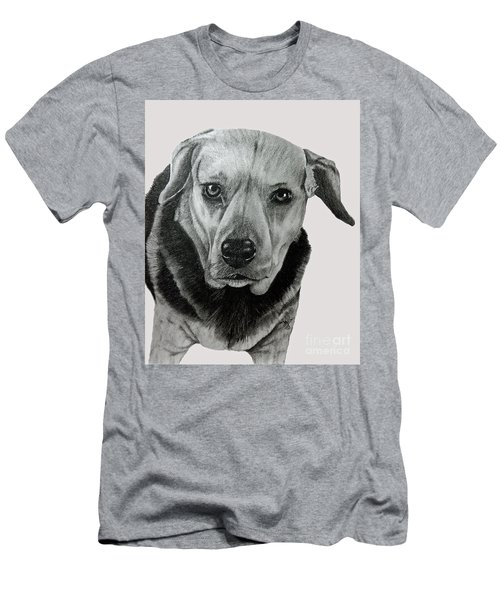 Men's T-Shirt (Slim Fit) featuring the drawing Beagle-shepherd Mix by Terri Mills