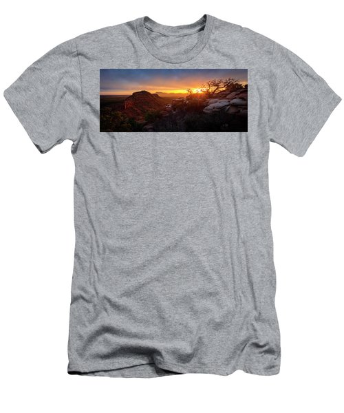 Bears Ears Sunset Panorama Men's T-Shirt (Athletic Fit)