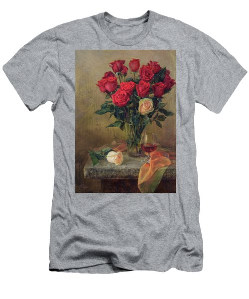 Beautiful Bouquet Of Roses Men's T-Shirt (Athletic Fit)
