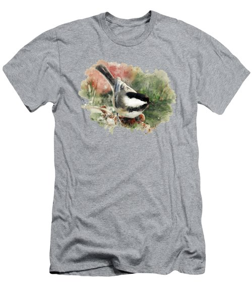 Beautiful Chickadee - Watercolor Art Men's T-Shirt (Athletic Fit)