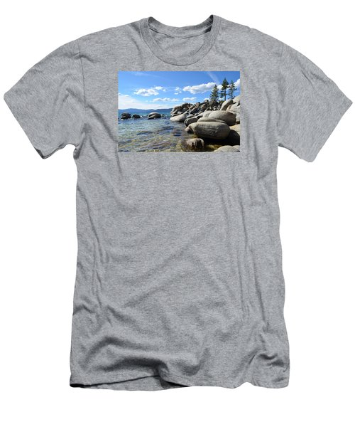 Men's T-Shirt (Slim Fit) featuring the photograph Beautiful Day At Lake Tahoe by Alex King