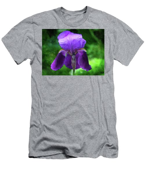 Beautiful Iris With Texture Men's T-Shirt (Athletic Fit)