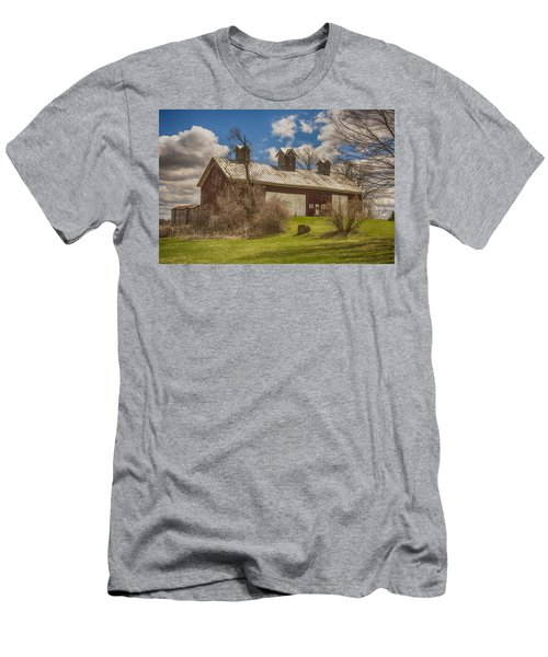 Beautiful Old Barn Men's T-Shirt (Slim Fit) by JRP Photography