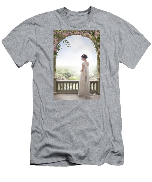 Beautiful Regency Woman Beneath A Wisteria Arch Men's T-Shirt (Athletic Fit)