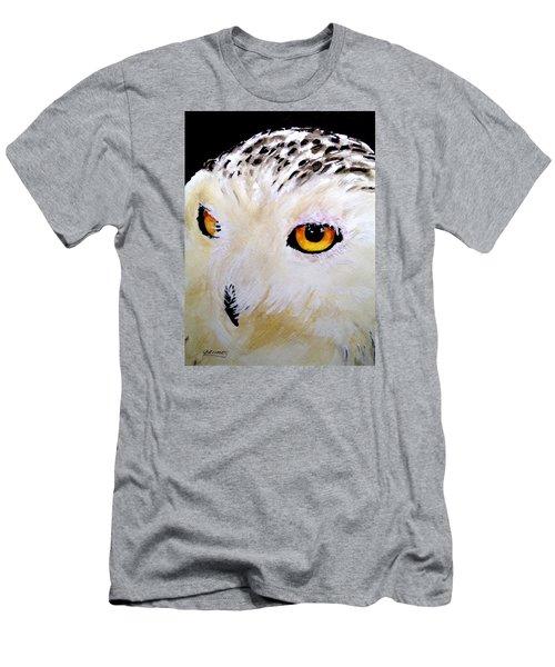 Beautiful Snowy Owl Men's T-Shirt (Slim Fit) by Carol Grimes