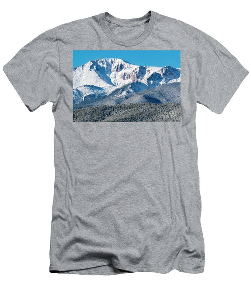 Beautiful Spring Snow On Pikes Peak Colorado Men's T-Shirt (Athletic Fit)