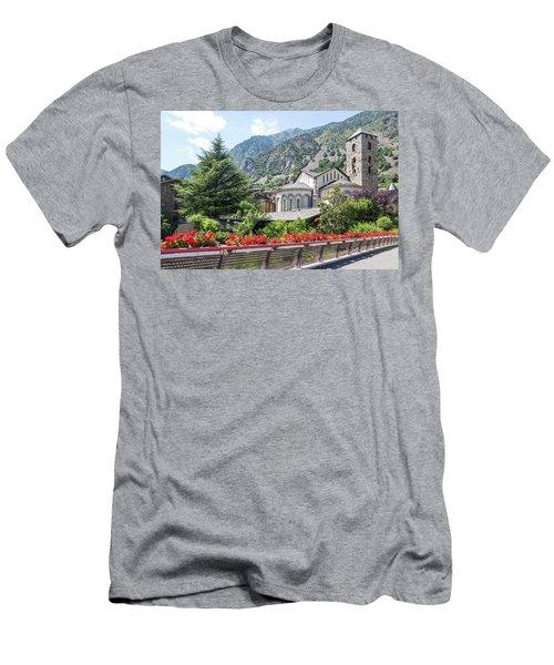 Beautiful View Of Andorra La Vella Men's T-Shirt (Slim Fit) by GoodMood Art