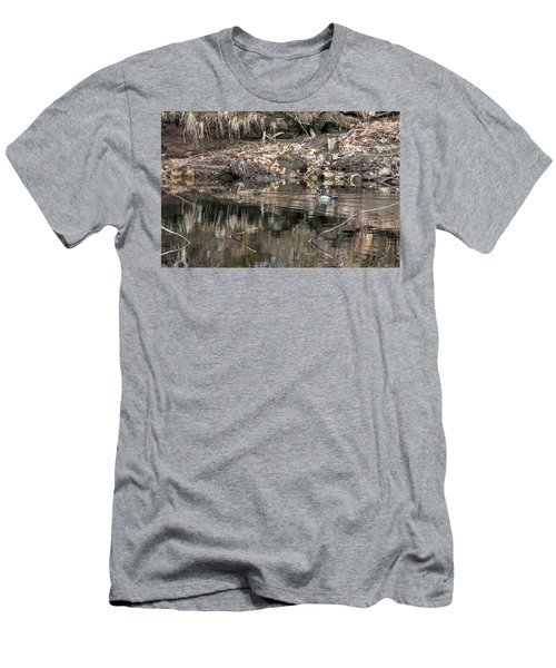 Men's T-Shirt (Athletic Fit) featuring the photograph Beautiful Wood Ducks  by Betty Pauwels