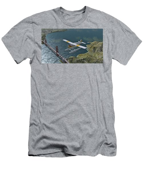 Beaver Over The Gate Men's T-Shirt (Athletic Fit)