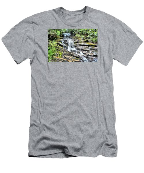 Becky Branch Falls In Summer Men's T-Shirt (Slim Fit) by James Potts