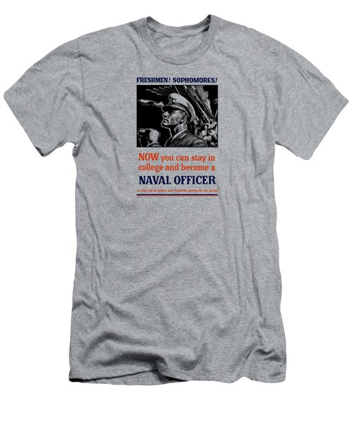 Become A Naval Officer Men's T-Shirt (Athletic Fit)