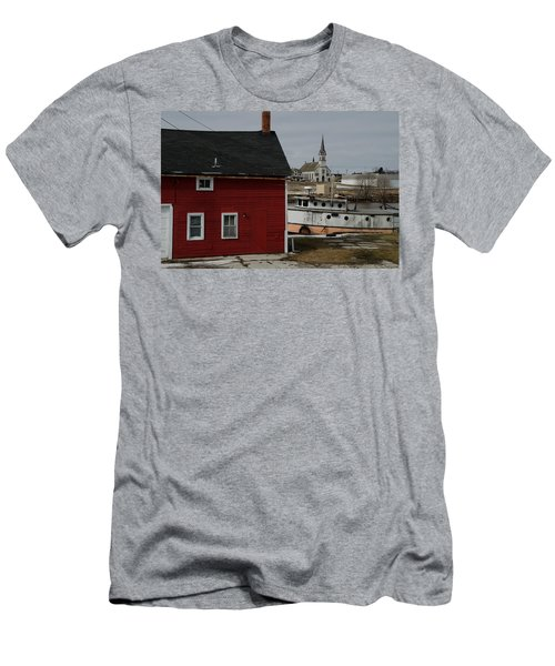 Men's T-Shirt (Slim Fit) featuring the photograph Becoming A Part Of A By-gone Era by Janice Adomeit